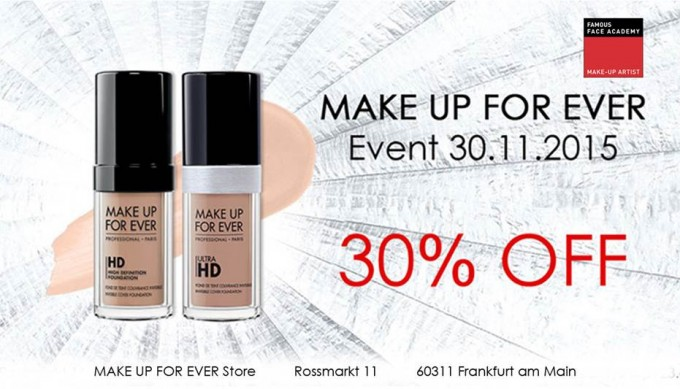 MAKE UP FOR EVER EVENT